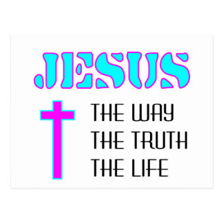 Jesus the way the truth the life postcard