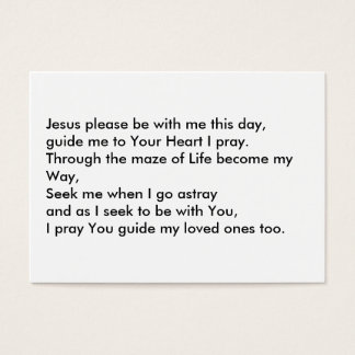 Jesus the Way through Life Business Card