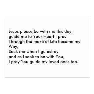 Jesus the Way through Life Large Business Card