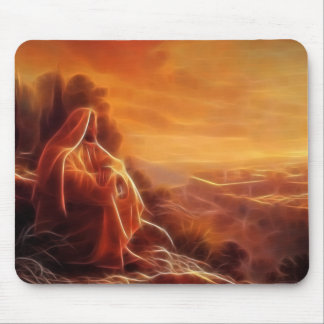 Jesus Thinking About You Mousepads