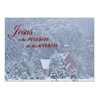 Jesus this Season - Yosemite Chapel in Snowstorm Card