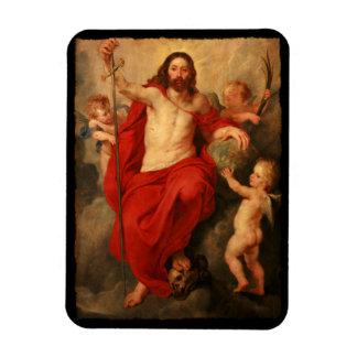 Jesús Triumph sobre muerte y pecado Imanes De Vinilo
