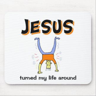 Jesus turned my life around mousepads