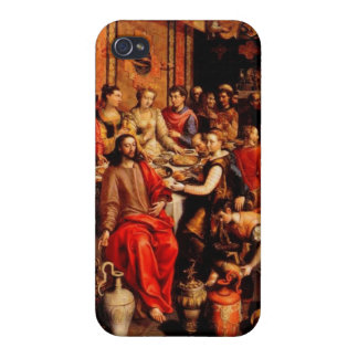 Jesus turns water into wine iPhone 4 cover