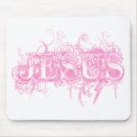 Jesus UltraDéco Rose Alfombrillas De Ratones