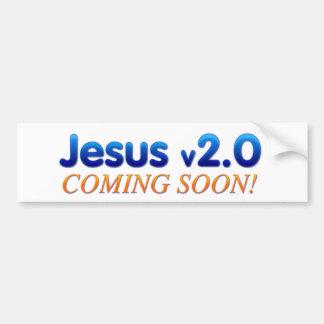 Jesus v2.0 bumper sticker