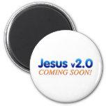 Jesús v2.0 imán de frigorífico