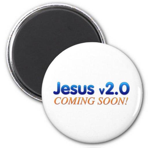 Jesús v2.0 imán redondo 5 cm