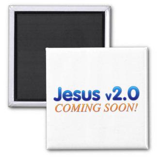 Jesus v2.0 magnet