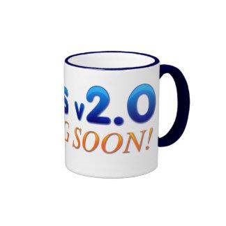 Jesus v2.0 ringer coffee mug