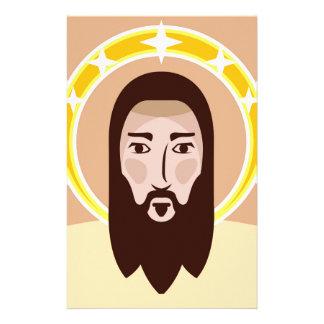 Jesus vector stationery