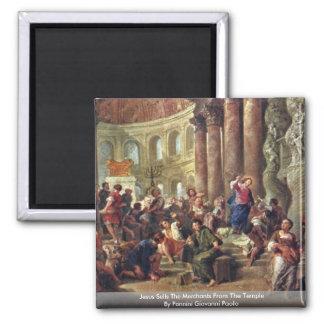 Jesús vende a los comerciantes del templo imán cuadrado