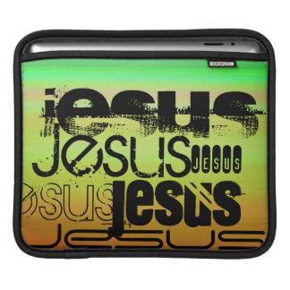 Jesus; Vibrant Green, Orange, & Yellow Sleeve For iPads