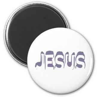 Jesus Violet Magnet