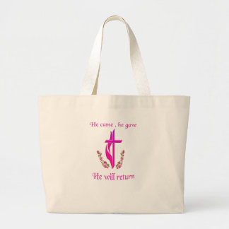 Jesús volverá productos bolsa tela grande