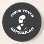Jesus votes Republican - Drink Coaster