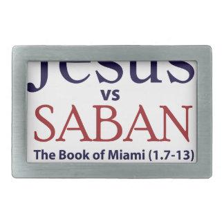 Jesus vs Saban Belt Buckle