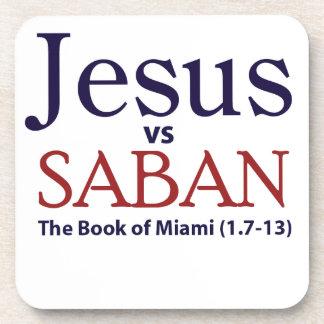 Jesus vs Saban Beverage Coaster