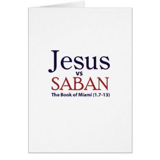 Jesus vs Saban Cards