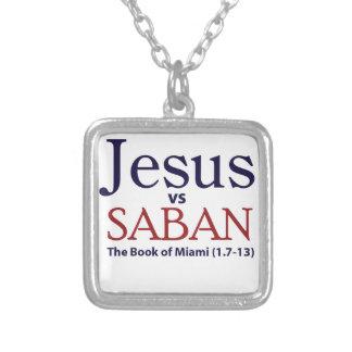 Jesus vs Saban Custom Necklace
