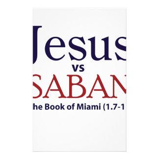 Jesus vs Saban Customized Stationery