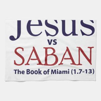 Jesus vs Saban Hand Towel