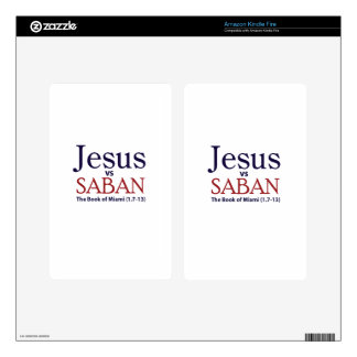 Jesus vs Saban Kindle Fire Skin