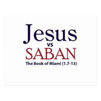 Jesus vs Saban Post Card