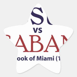 Jesus vs Saban Star Sticker