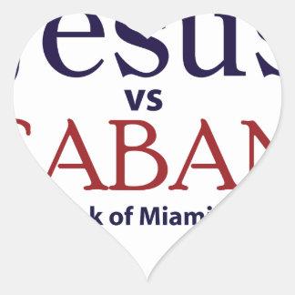Jesus vs Saban Stickers