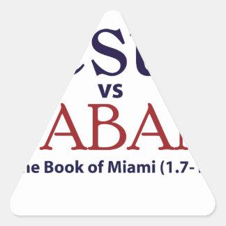 Jesus vs Saban Triangle Sticker