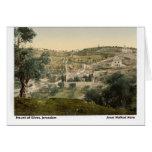 Jesus Walked Here: Mt. of Olives, Jerusalem Greeting Card