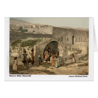 Jesus Walked Here: Nazareth Card