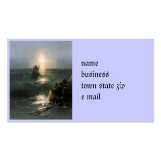 Jesus Walking on Stormy Seas Double-Sided Standard Business Cards (Pack Of 100)