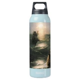 Jesus Walking on Stormy Seas Insulated Water Bottle