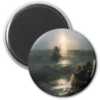 Jesus Walking on Stormy Seas Magnet