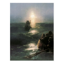 Jesus Walking on Stormy Seas Postcard