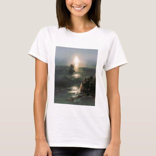 Jesus Walking on Stormy Seas T-Shirt