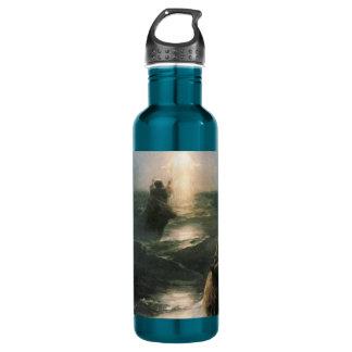 Jesus Walking on Stormy Seas Water Bottle
