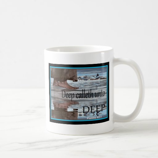 Jesus walking on Water Classic White Coffee Mug