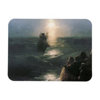 Jesus Walking on Water, Ivan Aivazovsky Painting Magnet