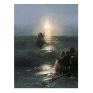 Jesus Walking on Water, Ivan Aivazovsky Painting Postcard