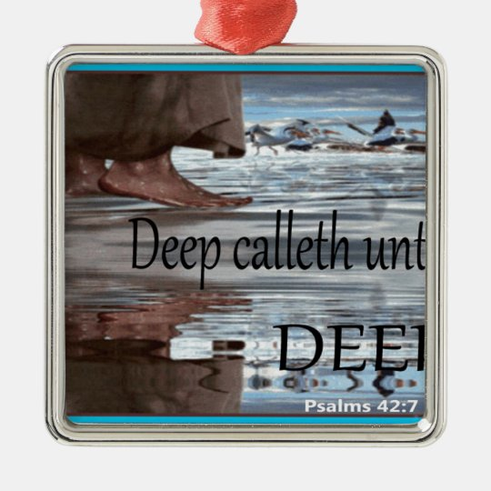 Jesus walking on Water Metal Ornament