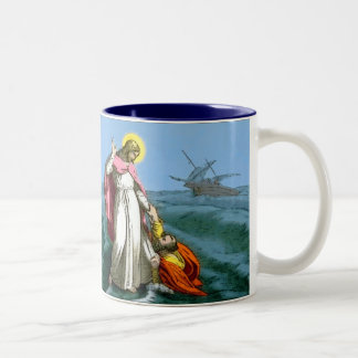 Jesus Walking on Water Mug