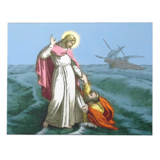Jesus Walking on Water Notepad