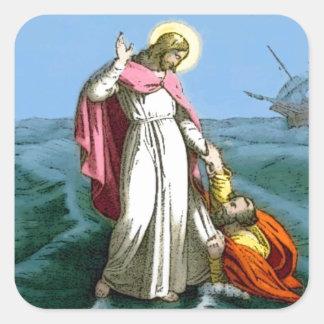 Jesus Walking on Water Sticker