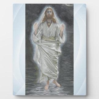 Jesus walks on the sea plaque