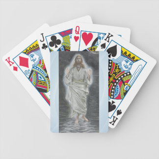 Jesus walks on the sea playing cards