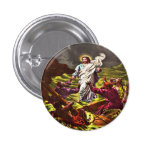 Jesus Walks on Water button 1 Inch Round Button