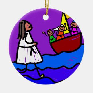 Jesus Walks on Water Christmas Tree Ornaments